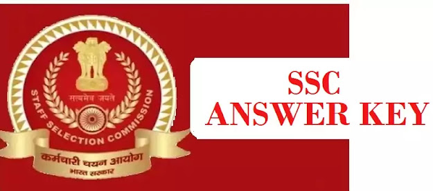 SSC Answer Key Latest 2021