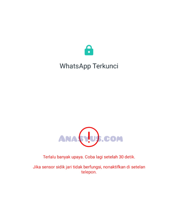 WhatsApp Terkunci
