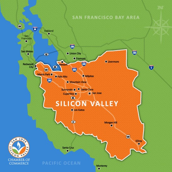 Silicon Valley Karte.Mark Martinez Blog California S High Tech Mecca The Silicon