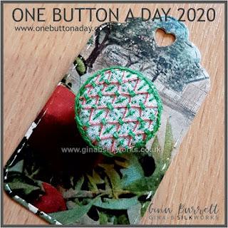 One Button a Day 2020 by Gina Barrett - Day 59: Treillage