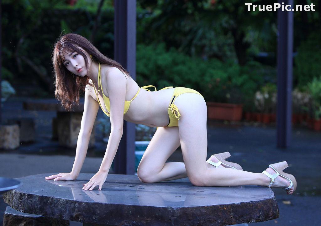 Image Taiwanese Model - Ash Ley - Yellow Bikini at Taipei Water Museum - TruePic.net - Picture-19