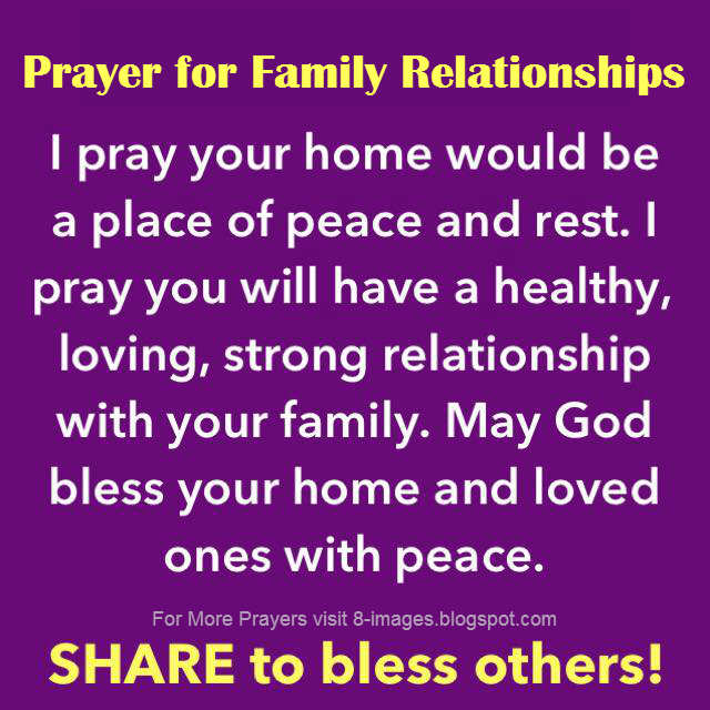 relationship with god and our family