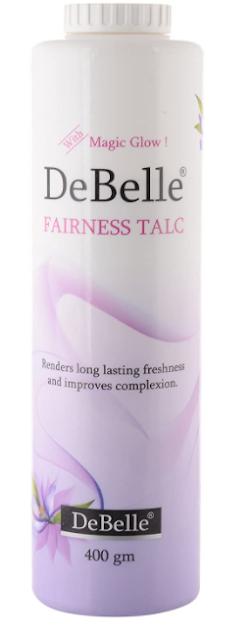 DeBelle Fairness Talc, White, 400g   Lavender Fragrance   Face & Body Talc