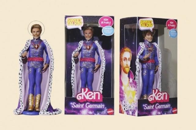 bonecas barbie modificadas, bonecas personalizadas, bonecas barbie religiosas, barbie baphomet, boneca barbie baphomet, boneco são germano