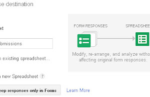 Form response destination box in Google drive