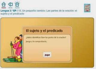 http://www.primaria.librosvivos.net/Las_partes_de_la_oracion__el_sujeto_y_el_predicado.html