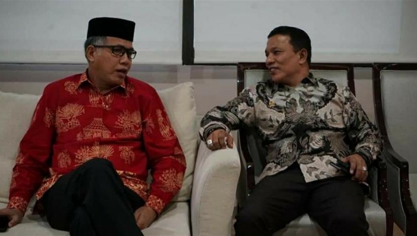 Ruslan M Daud dan Gubernur Aceh Nova Iriansyah