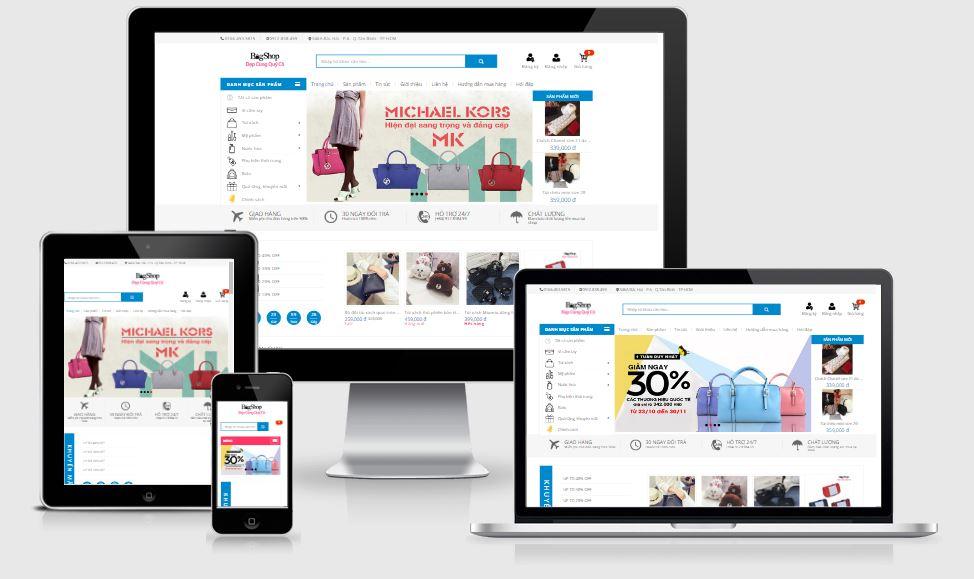 Template Blogspot Bán hàng thời trang cực đẹp VnShopBlog