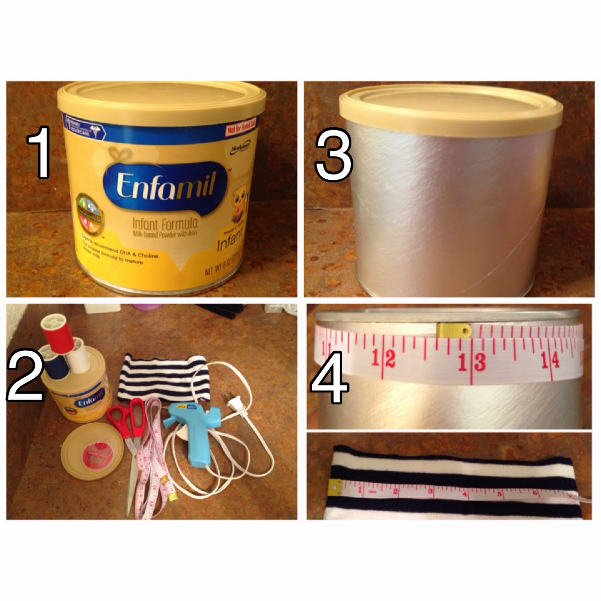 KosmoKaila: How To Re-Use Baby Formula Cans: Q-Tip Holder