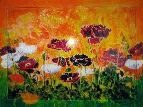 """Музей Гетьманства - Венера Сабирова, """"Солнечный горизонт"""", живопись на стекле"""