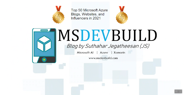 MSDEVBUILD in Feedspot Top 100 Microsoft Azure Blogs