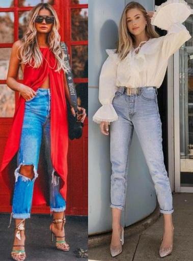 Thássia Naves, Sophie Suchan, Looks estilosos com calça jeans