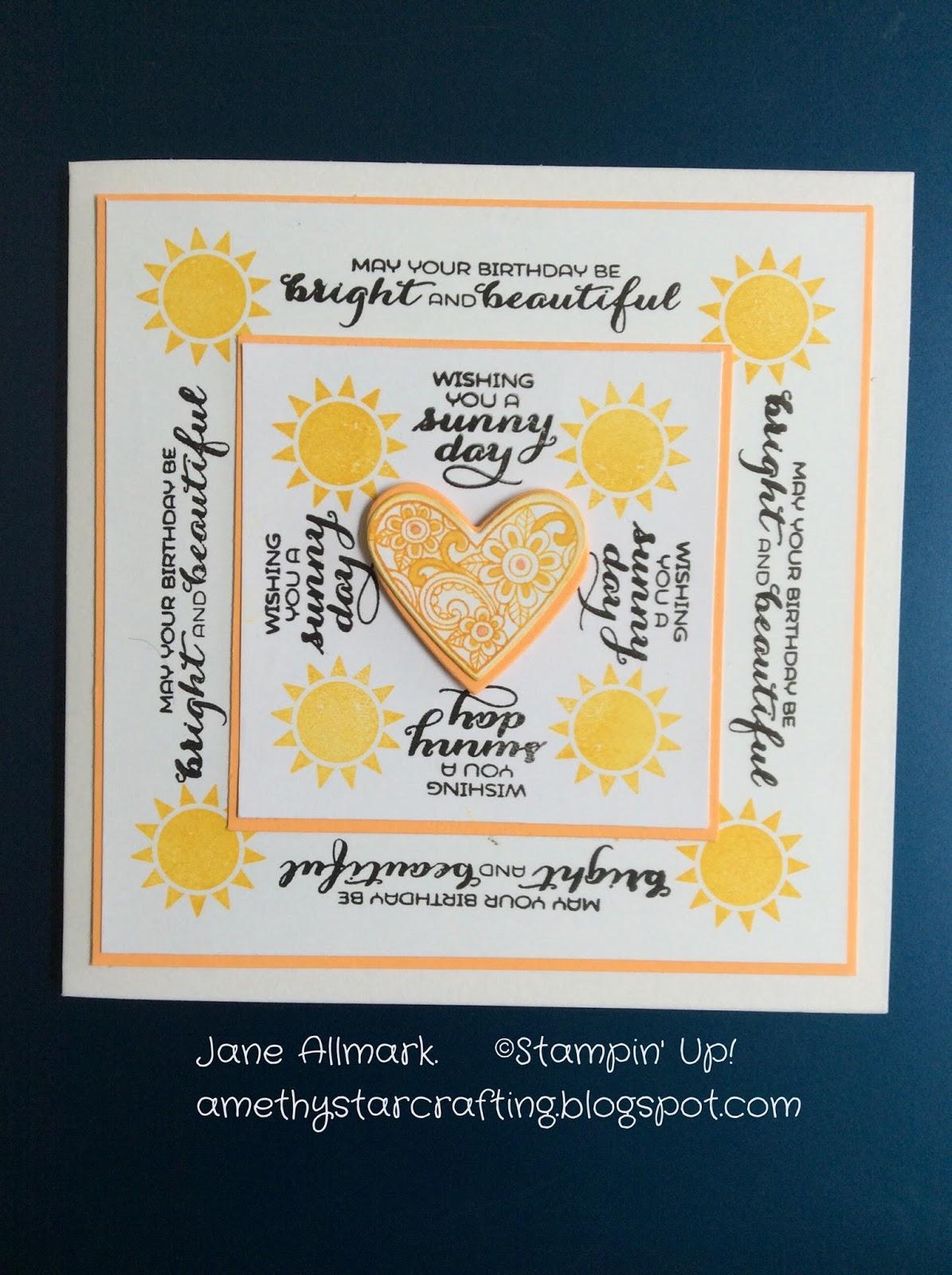 Amethystar Crafting Stampin Up Stamparatus Template Stamping