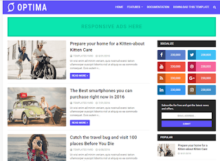 Optima Seo Ready Blogger Template 2020