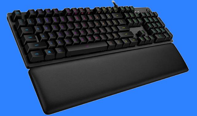 Logitech G513: teclado gaming RGB con teclas mecánicas, reposamuñecas extraíble y superficie de aluminio