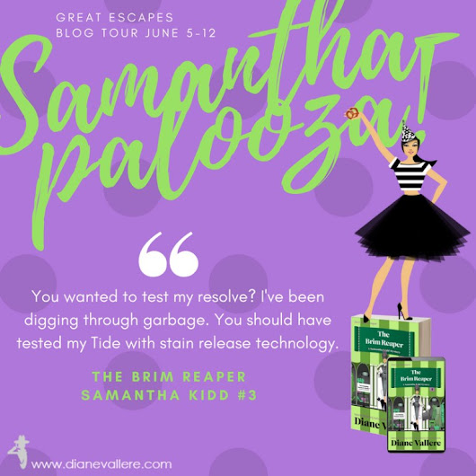 The Brim Reaper by Diane Vallere | #Samanthapalooza! Tour w/ Review & Giveaway