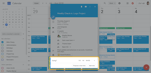 G Suite Updates Blog: Propose a new meeting time in Google Calendar