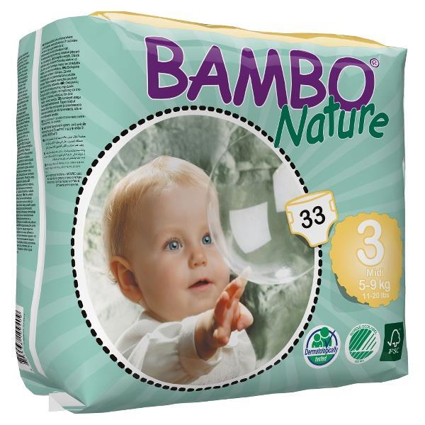 Bambo Nature tanie ekologiczne pieluchy jednorazowe