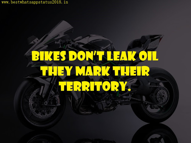 Bike Status, Captions Short Quotes for Bike Riders
