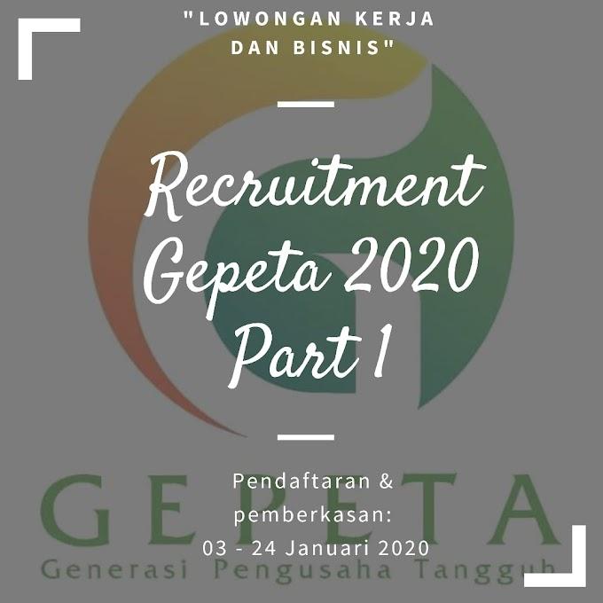 Lowongan Kerja Recruitment Gepete 2020
