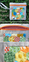 Quilted Hexie Pouch Bag Tutorial