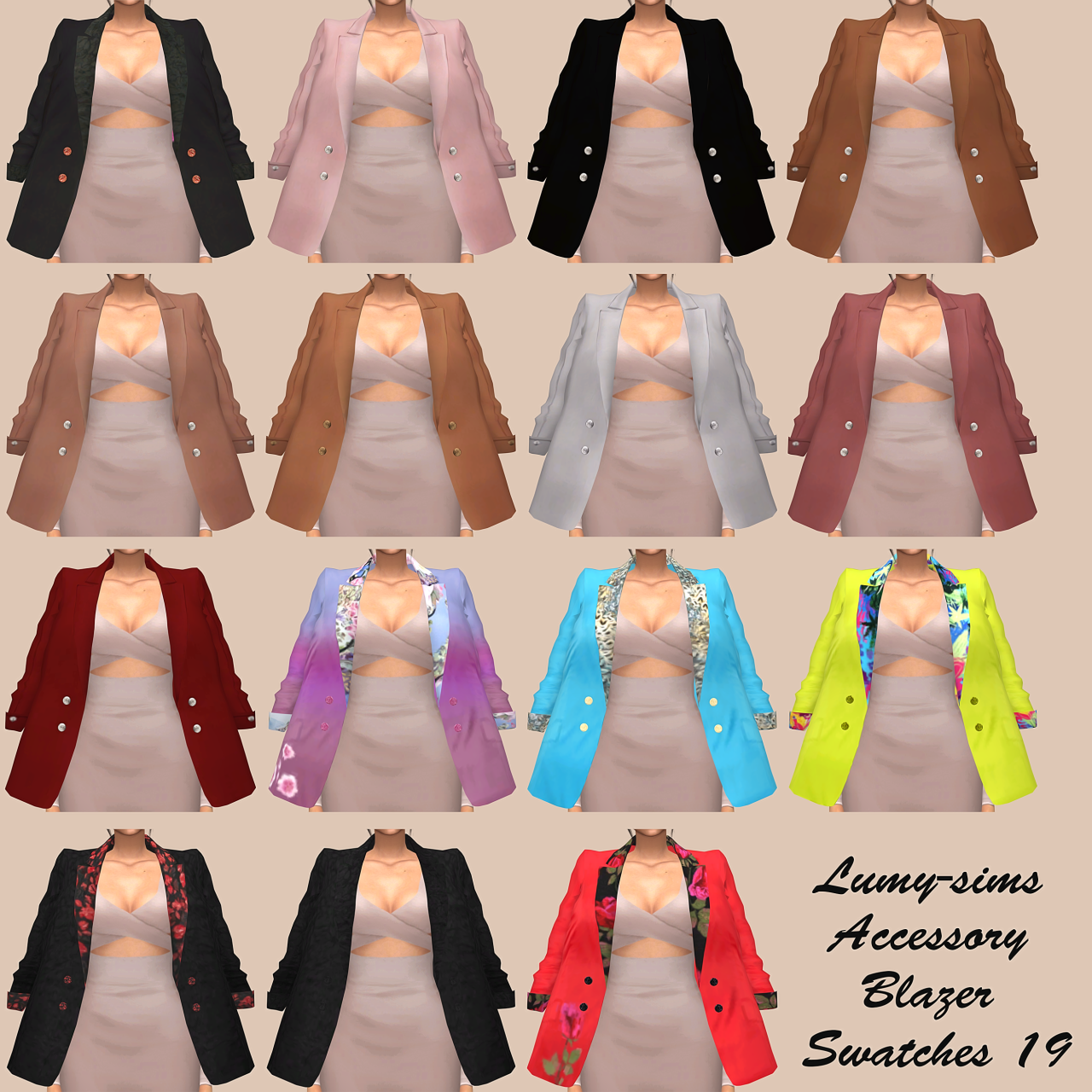 sims 4 cc's - the best: accessory blazer by lumy sims, Badezimmer ideen