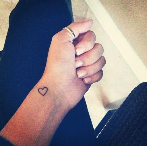 Beautiful wrist heart tattoos
