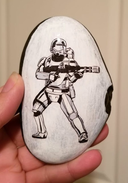 Temporary Tattoos on painted Star Wars rocks