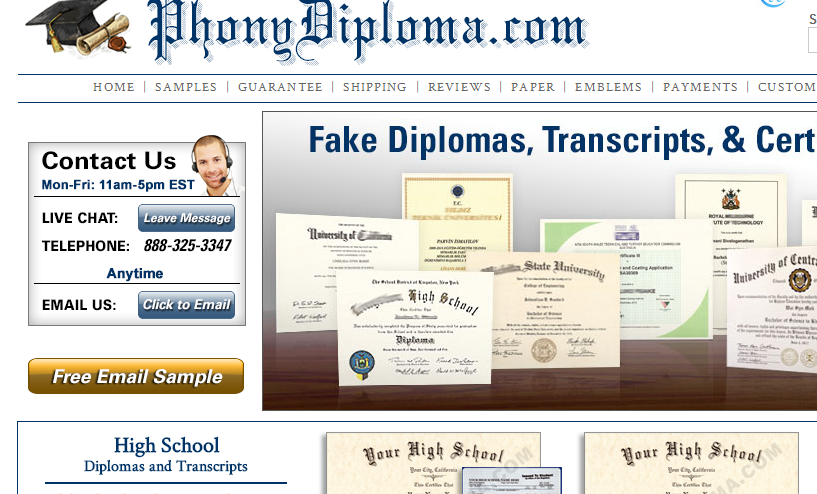 Fake Diploma Review: PhonyDiploma.com Review