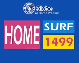 Globe HomeSurf 1499 – 100GB Data per Month for Home Prepaid WiFi Users