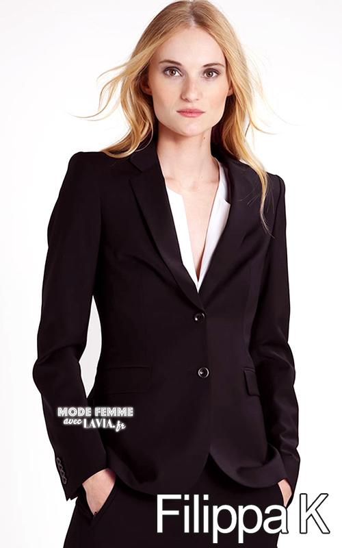 veste blazer femme noire cintr e filippa k. Black Bedroom Furniture Sets. Home Design Ideas
