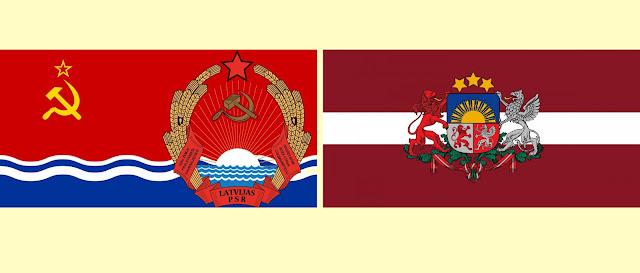gerbonis karogs padomju latvija