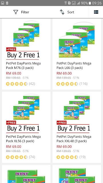 PetPet DayPants Mega Pack Discount Promo Lazada Malaysia