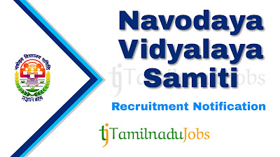 NVS Recruitment 2019, NVS Recruitment Notification 2019, govt jobs in inida, central govt jobs, Latest NVS Recruitment update
