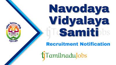 NVS Recruitment 2019, NVS Recruitment Notification 2019, govt jobs in inida, central govt jobs, Latest NVS Recruitment update