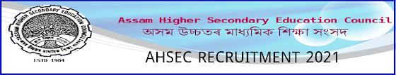 AHSEC Recruitment