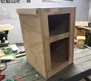Finished aquarium stand body