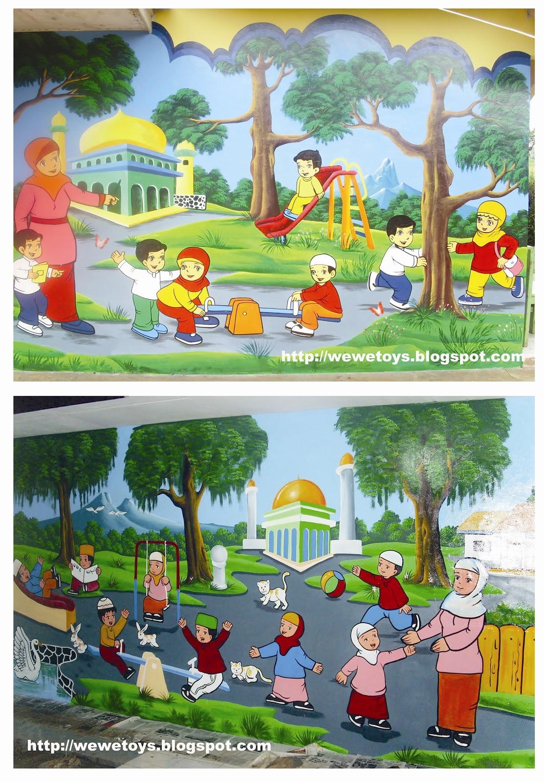 Contoh Gambar Ilustrasi Tentang Lingkungan Sekolah Iluszi