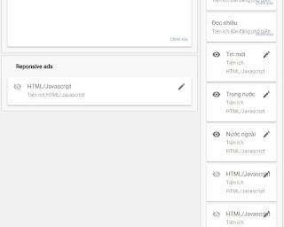 Hướng dẫn thiết kế Bố cục các tiện ích (widget) trong Blogspot