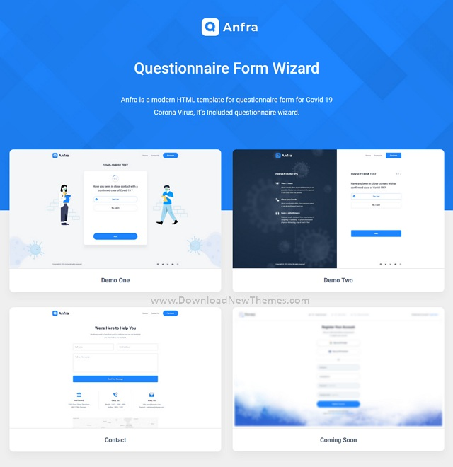Anfra Form Wizard Bootstrap Template