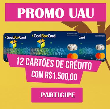 12 Cartões de Crédito com R$ 1.500,00 e Três Super Viagens - Promoção UAU Tô de Férias