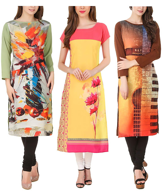 Latest Crepe Kurtis | Price| cost | Colors | collection