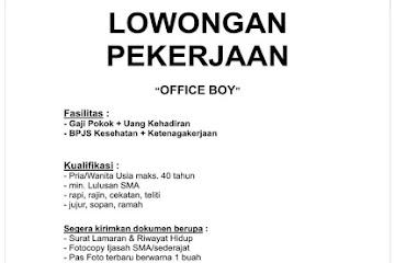Lowongan Kerja Office Boy Cahaya Bangsa Classical School Bandung