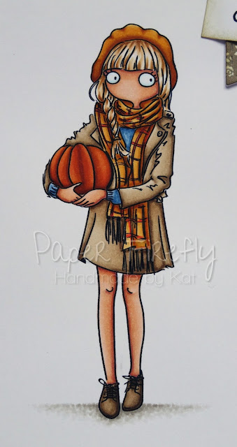 Autumnal CAS card using Thoroughly Modern Miss November by LOTV