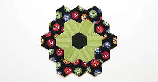 English Paper Piecing Hexagon Flower Block