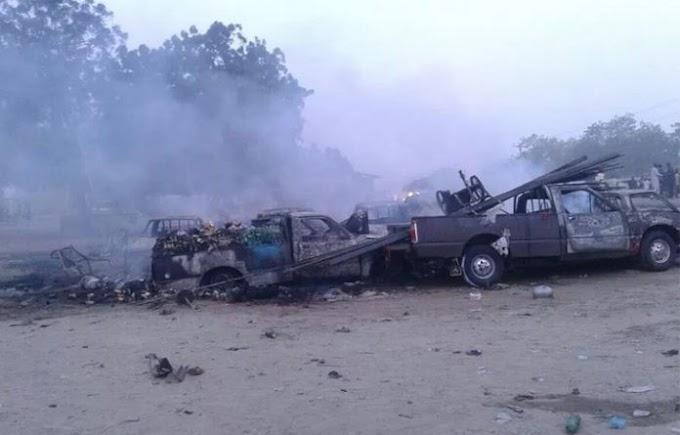 Gunfire and explosions 'rock Nigeria's Maiduguri'
