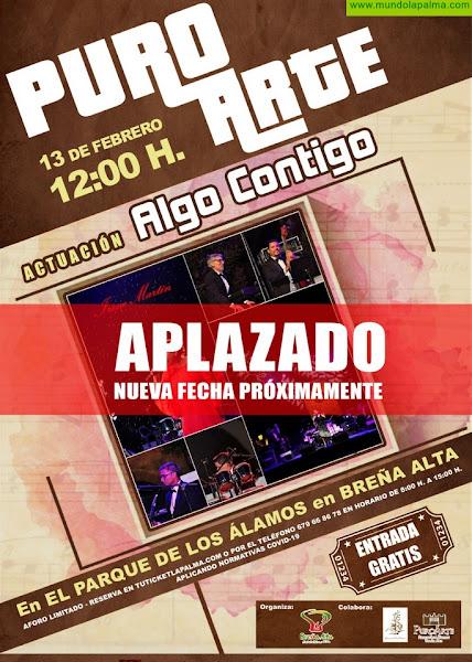 El Ayuntamiento de Breña Alta aplaza el espectáculo 'Algo Contigo'