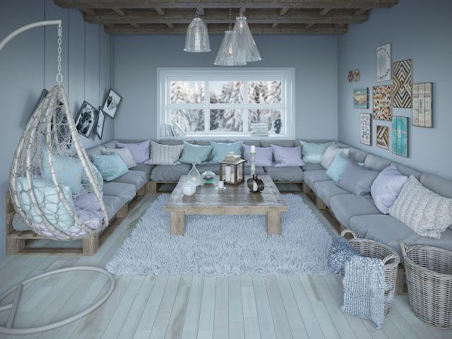 غرفة المعيشة العصرية