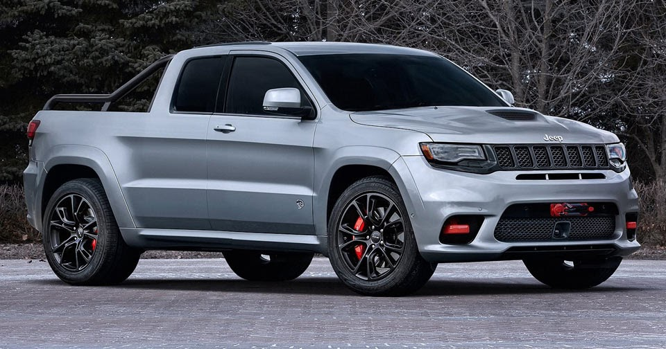 jeep grand cherokee srt hellcat pickup could be the ultimate sleeper. Black Bedroom Furniture Sets. Home Design Ideas