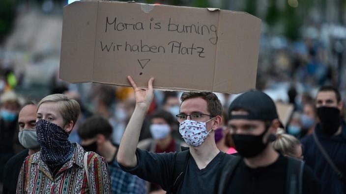 Allemagne: manifestations pour accueillir des migrants du camp de Moria en Grèce